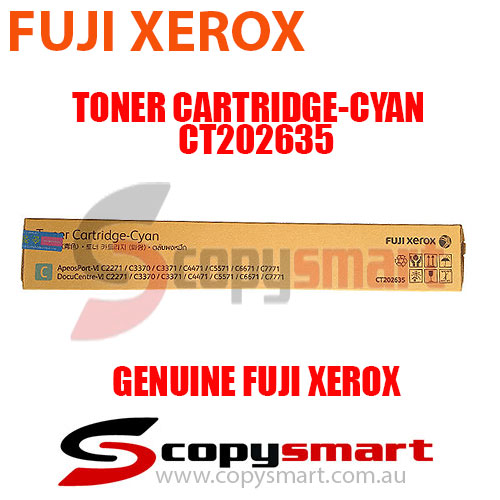 Fuji Xerox Toner Cartridge Cyan CT202635 Genuine Original Product