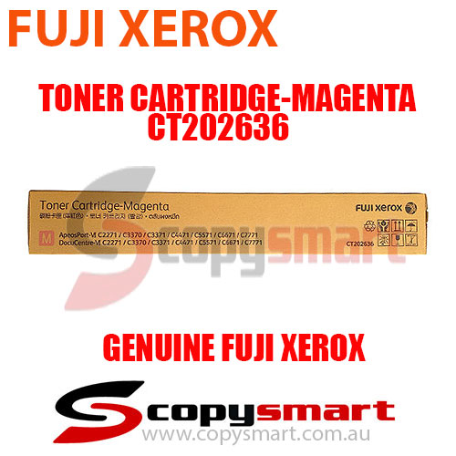 Fuji Xerox Toner Cartridge Magenta CT202636 Genuine Original Product