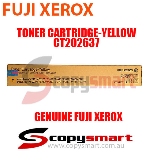 Fuji Xerox Toner Cartridge Yellow CT202637 Genuine Original Product