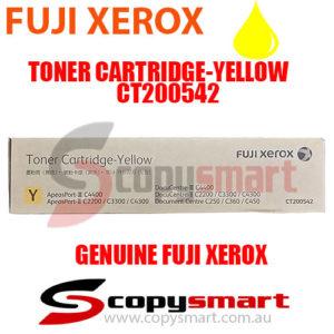 fuji xerox toner cartridge yellow ct200542 copysmart