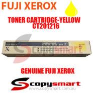 fuji xerox toner cartridge yellow ct201216 copysmart