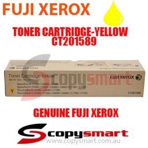 fuji xerox toner cartridge yellow ct201589 copysmart