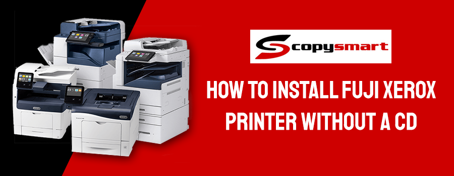 how to install fuji xerox printer without cd