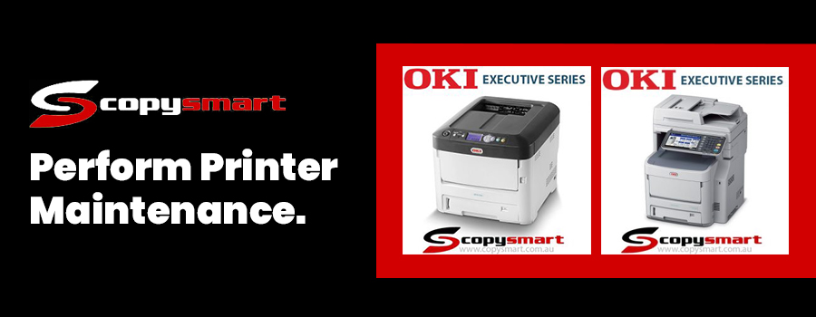perform printer maintenance